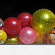 Colorful Balls In The Shop Window Poster by Ausra Huntington nee Paulauskaite