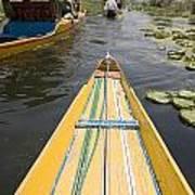 Colorful Boats On Dal Lake Dal Lake Poster