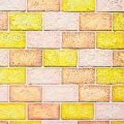 Colorful Brick Wall Poster