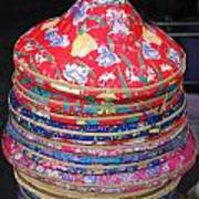 Colorful Chinese Farmer Hats Poster