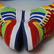 Colorful Clown Shoes Poster