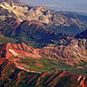 Colorful Colorado Rocky Mountains Planet Art Poster