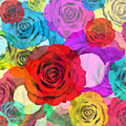 Colorful Floral Design  Poster