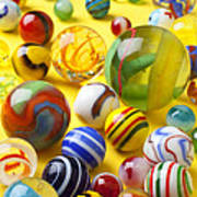 Colorful Marbles Two Poster