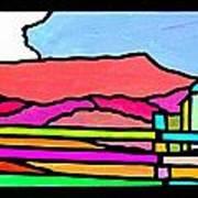 Colorful Massanutten Peak Poster
