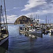 Colorful Morro Harbor Poster