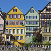 Colorful Old Houses In Tuebingen Germany Poster