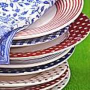 Colorful Plates Poster
