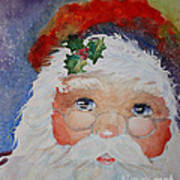 Colorful Santa Poster by Terri Maddin-Miller