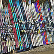 Colorful Snow Skis Poster