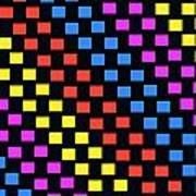 Colorful Squares Poster by Louisa Knight