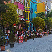 Colors Of Istanbul Street Life Poster