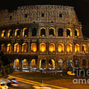 Colosseum By Night Poster by Chris Hill