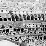 Colosseum In Rome Itlay - Interior - C 1904 Poster