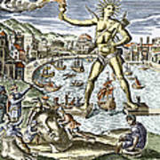Colossus Of Rhodes Statue Poster by Sheila Terry