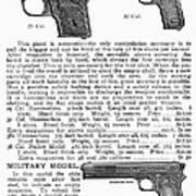 Colt Automatic Pistols Poster