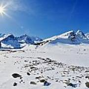 Columbia Icefield In Winter, Jasper Poster