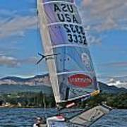 Columbia River Gorge Sailboat Racing Poster