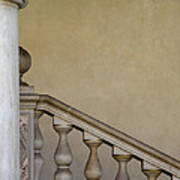 Column And Stairway At Wawel Castle In Krakow Poland Poster