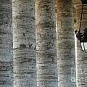 Columns And Hanging Lamp Poster