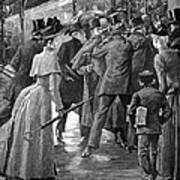 Commuter Rush Hour, 1890 Poster