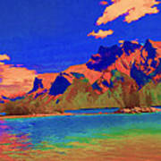 Complementary Mountains Poster