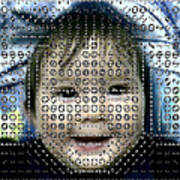 Computer Analysis Of A Smile On A Baby's Face Poster by Institute For Neural Computation, University Of California
