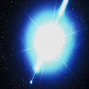 Computer Artwork Of A Gamma Ray Burst Poster