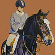 Concentration - Hunter Jumper Horse And Rider Poster