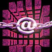 Conceptual Computer Artwork Of Internet Security Poster
