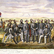 Confederate Generals Poster by Granger