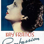Confession, Kay Francis, 1937 Poster