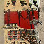Congratulations You Volunteers Poster by Adam Kissel