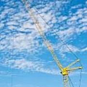 Construction Crane Poster