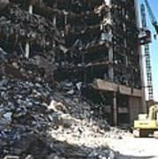 Construction Workers Erect An External Poster by Everett