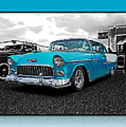 Cool Blue Chevy Poster