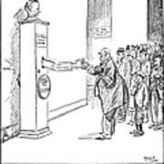 Coolidge Cartoon, 1925 Poster