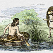 Coracle Boats Of The Ancient Britons Poster