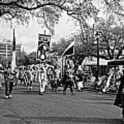 Corner Club 4 Black And White-mardi Gras Poster