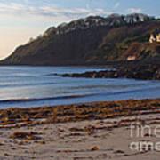Cornish Seascape Meanporth Poster