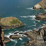 Cornish Seascape St Agnes  Poster