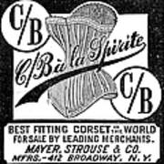 Corset Advertisement, 1888 Poster