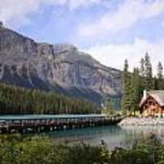 Crossing Emerald Lake Bridge - Yoho Nat. Park, Canada Poster