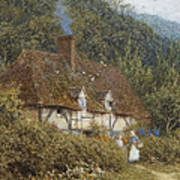 Cottage Near Witley Surrey Poster