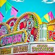 Cotton Candy Carnival Food Vendor Bold Color Poster