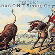 Cotton Thread Trade Card Poster