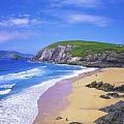 Coumeenoole Beach, Dingle Peninsula, Co Poster