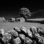 Countryside Beneath Slieve Binnian In The Mourne Mountains Northern Ireland Poster