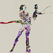 Couple Dancing Poster by Naxart Studio