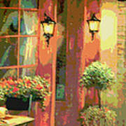 Courtyard Poster by David Alvarez